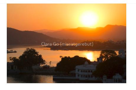 Foto en Jpg descarregable per a us personal - Posta de sol sobre el llac Pichola. Udaipur